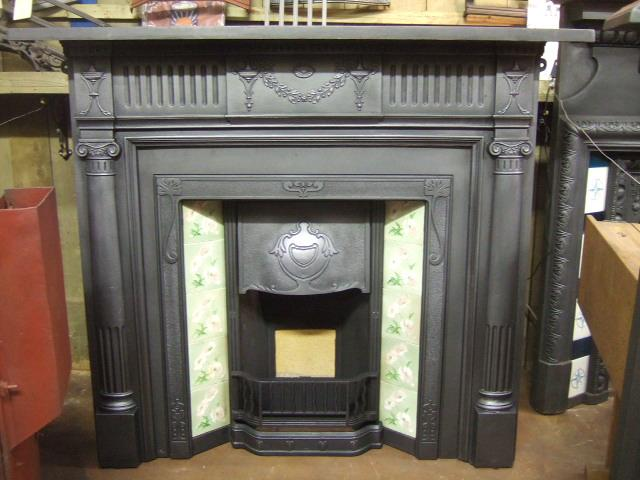 Edwardian Cast Iron Fireplace Surround 243cs Old