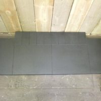 Matt Granite Hearth - slabbed