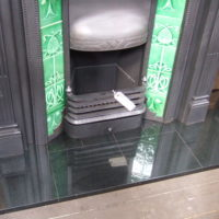 Polished Granite Hearth - slabbed