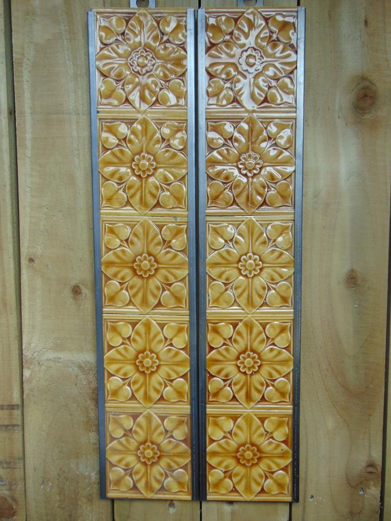 Original Victorian Fireplace Tiles V026 Old Fireplaces