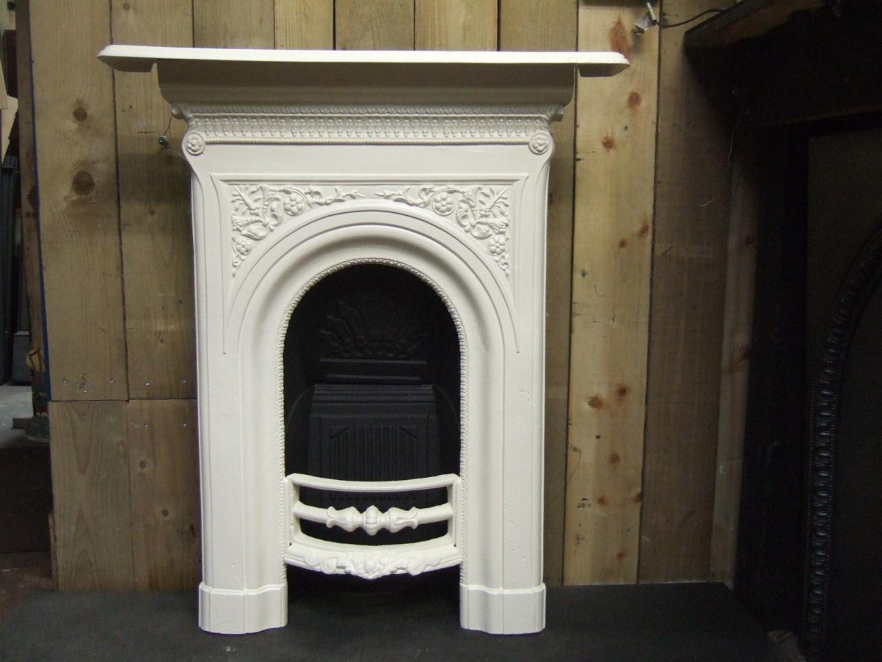 Victorian Cast Iron Bedroom Fireplace 140b Antique