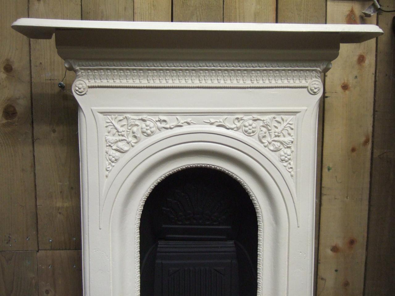 Victorian Cast Iron Bedroom Fireplace 140b Antique