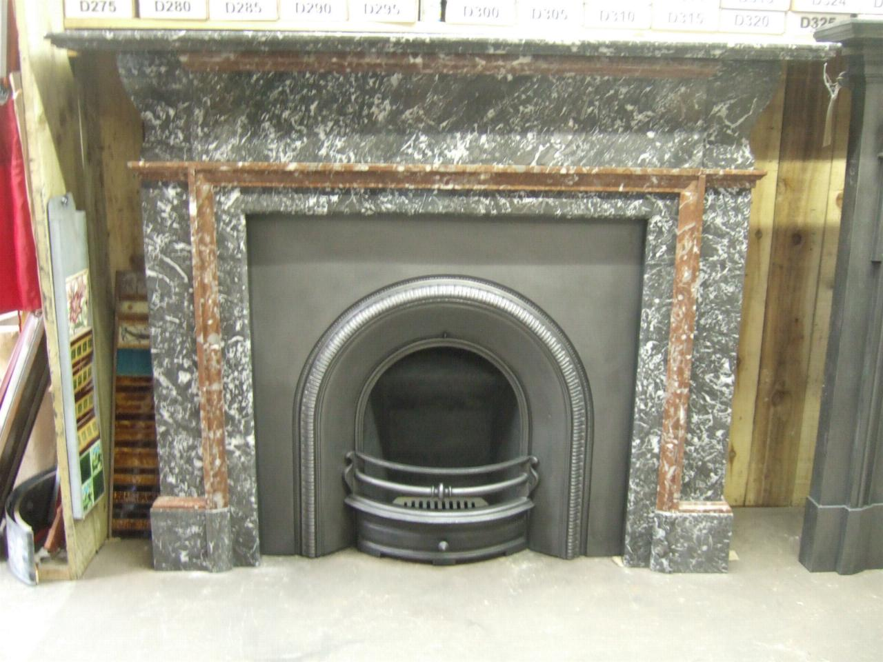 Original Victorian Arched Fireplace Insert 016ai Old Fireplaces