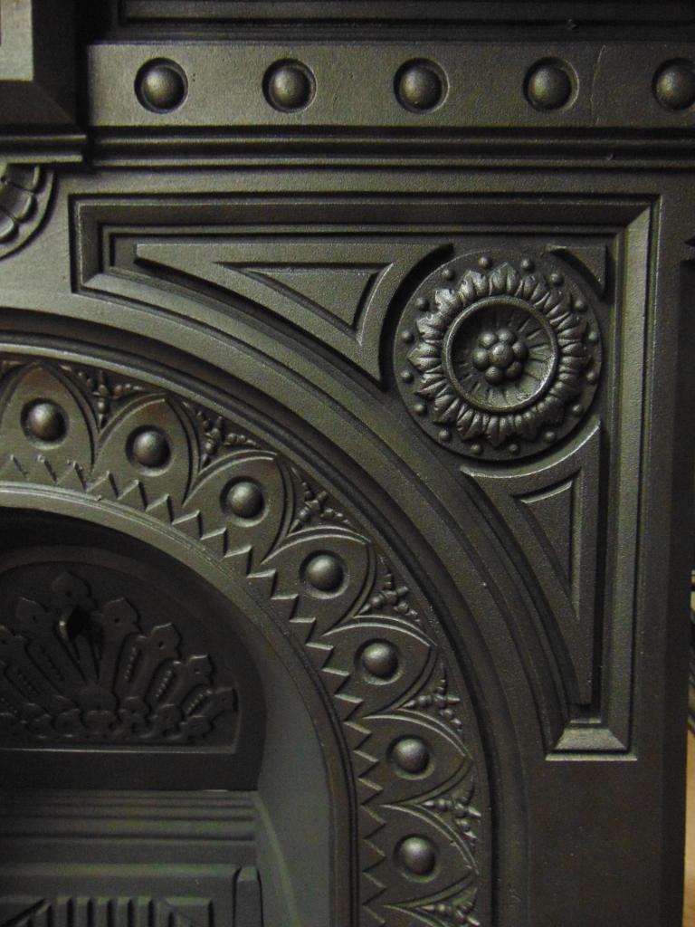 Original Victorian Cast Iron Fireplace 124mc 1651 Old