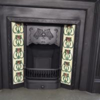 Victorian Art Nouveau Tiled Insert 767TI - Antique Fireplace Company