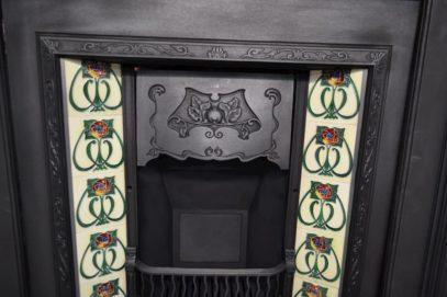 Victorian Art Nouveau Tiled Insert 767TI - Antique Fireplace Company