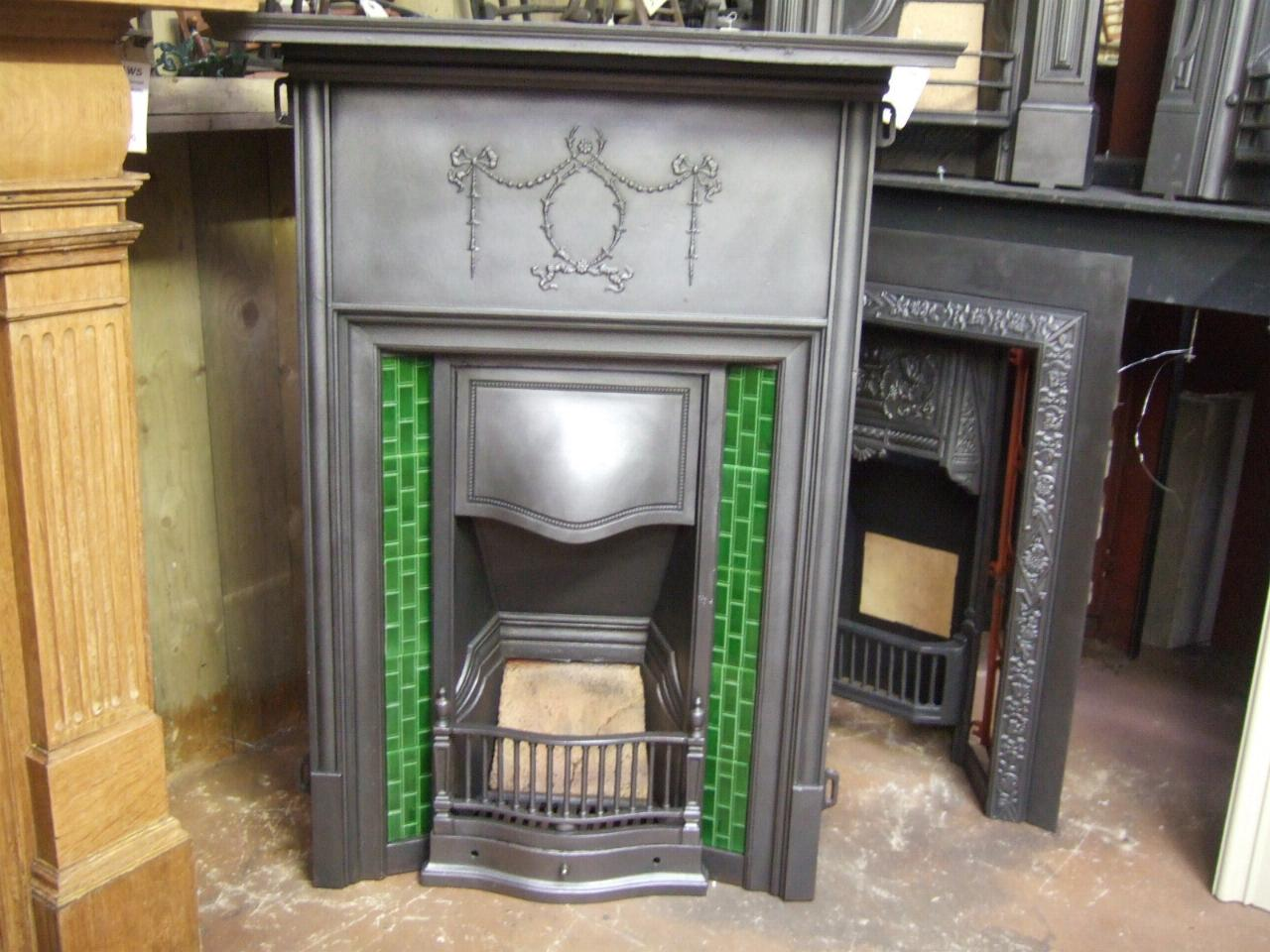 Antique Edwardian Tiled Fireplace 257tc Old Fireplaces