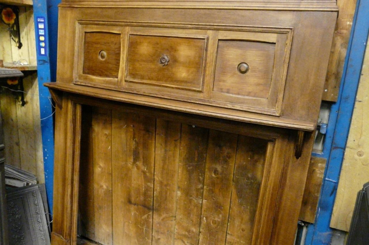 Edwardian 1920s Oak Fireplace Surround 125ws Old