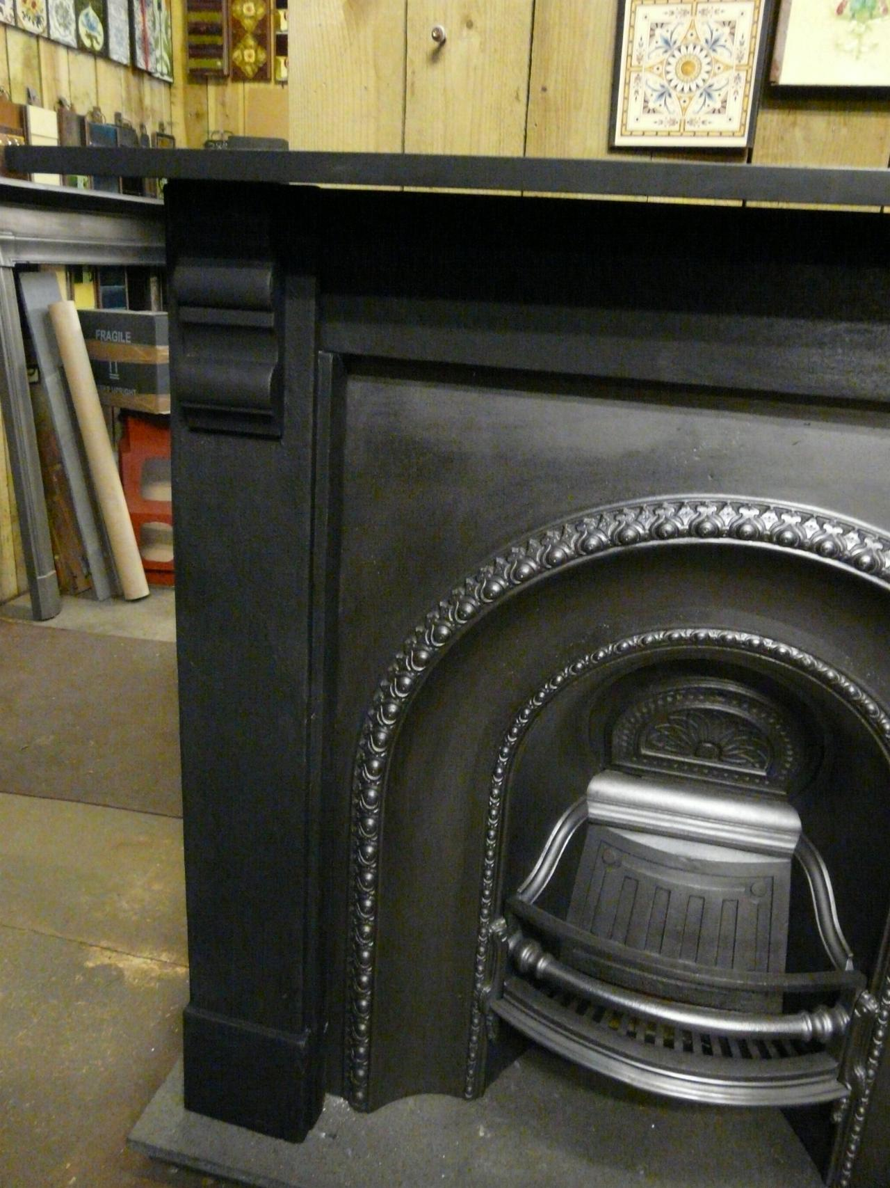 Victorian Slate Fireplace Surround 038ss Antique