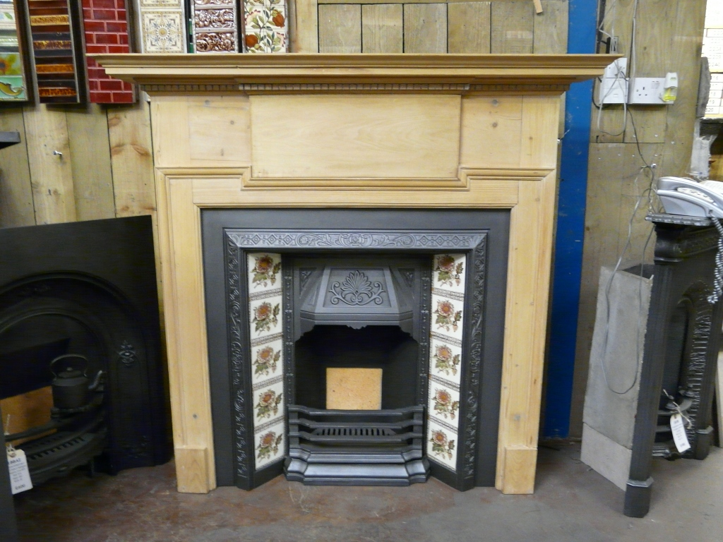 Reclaimed Edwardian Pine Fire Surround 193ws Old Fireplaces