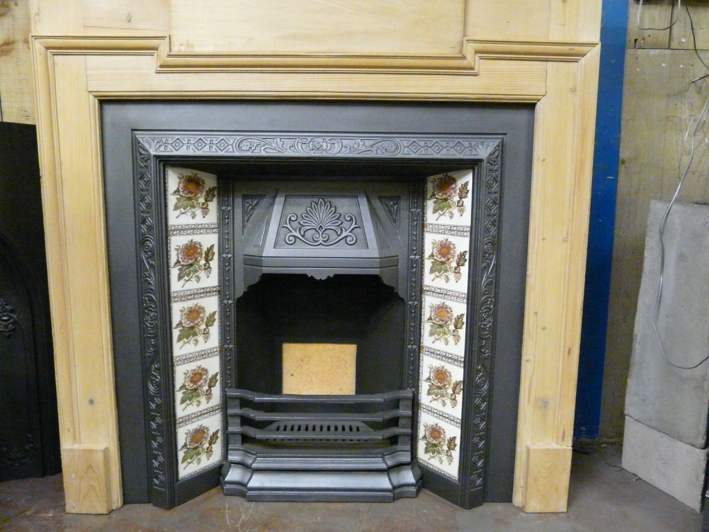 Reclaimed Edwardian Pine Fire Surround 193ws Antique Fireplace Co