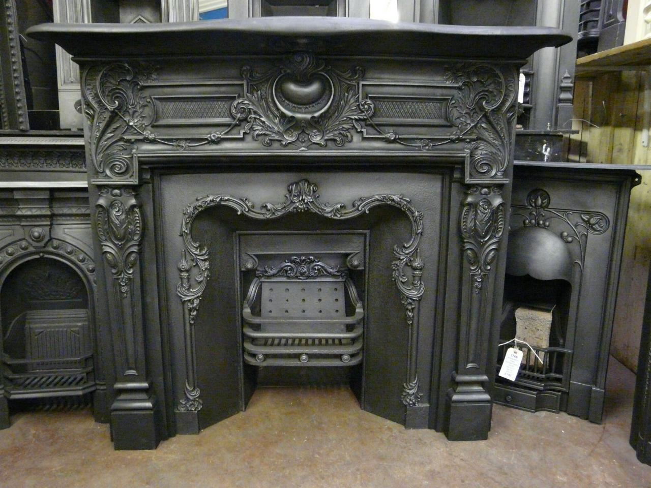 Victorian Cast Iron Fire Surround - 008CS - Old Fireplaces