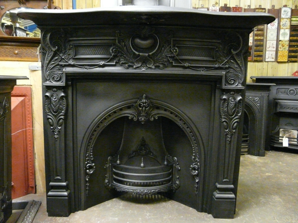 Victorian Cast Iron Fire Surround 008cs Old Fireplaces