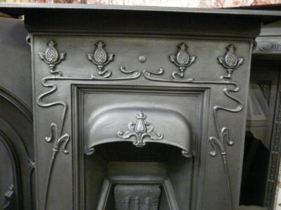 Pretty Art Nouveau Bedroom Fireplace 895B Oldfireplaces