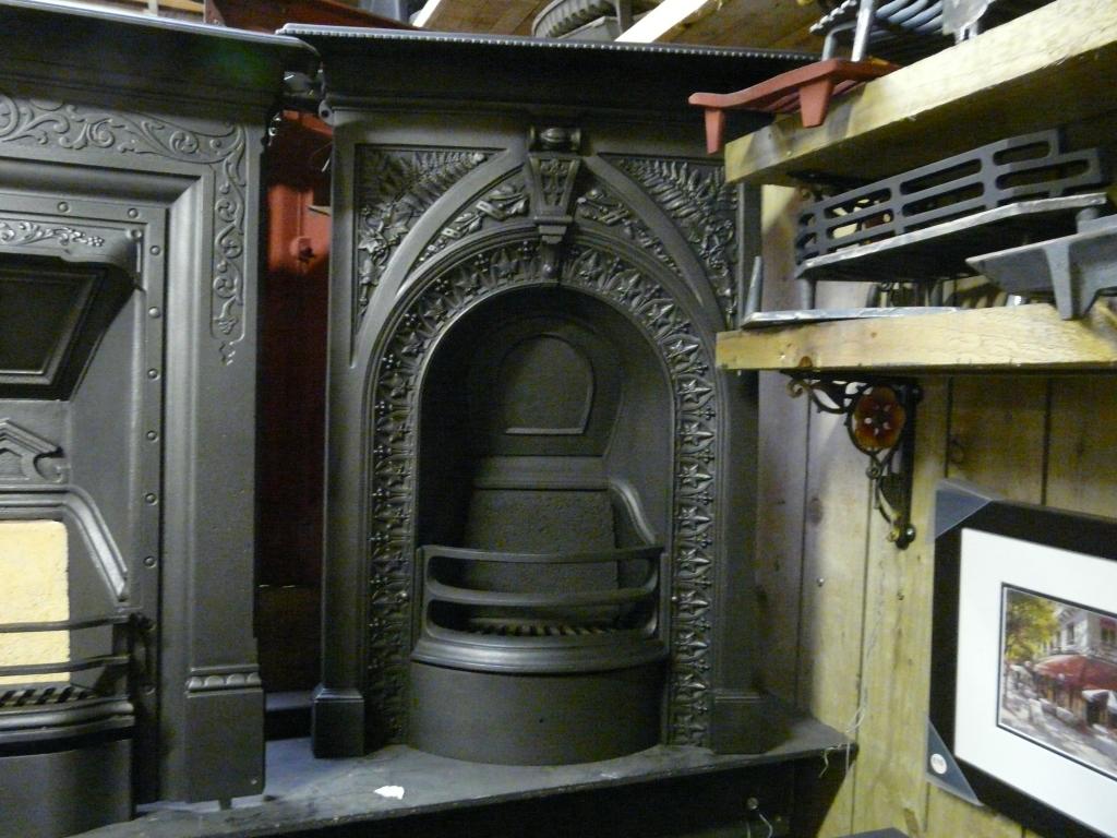 victorian cast iron u0027fern and ivy u0027 bedroom fireplace 072b old