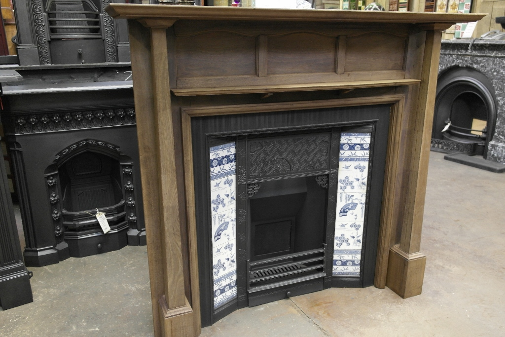 078ws 1085 Arts Amp Crafts Wooden Fireplace Surround Old
