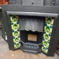 Art Nouveau Tiled Fireplace Insert - 127TI