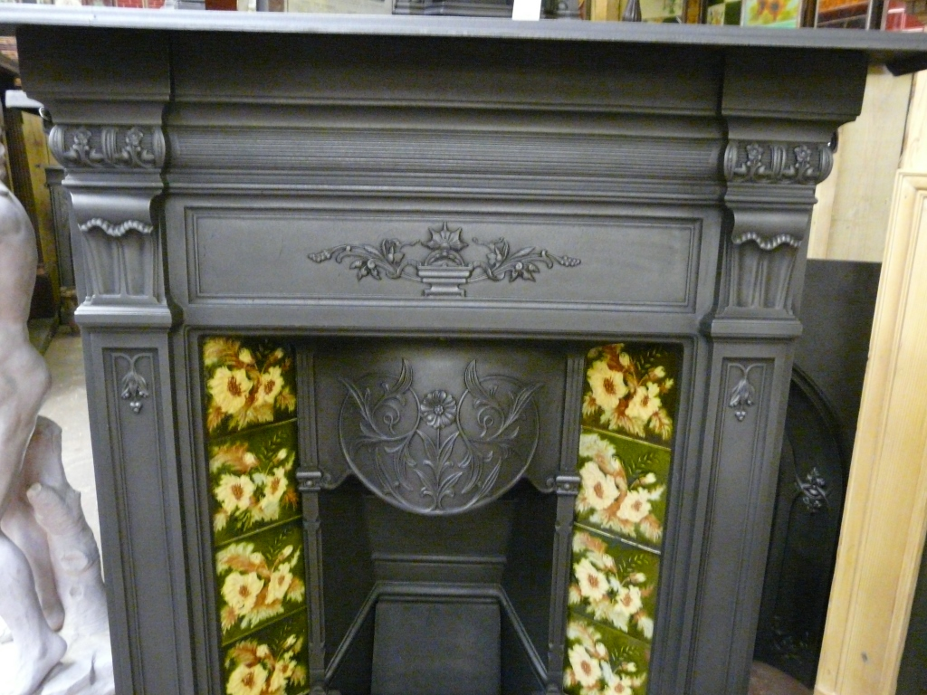 victorian tiled fireplace 196tc old fireplaces
