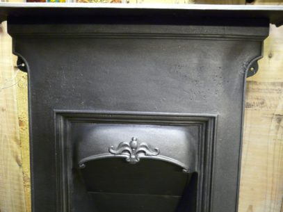 Edwardian Cast Iron Art Nouveau Fireplace 957B Old Fireplaces.