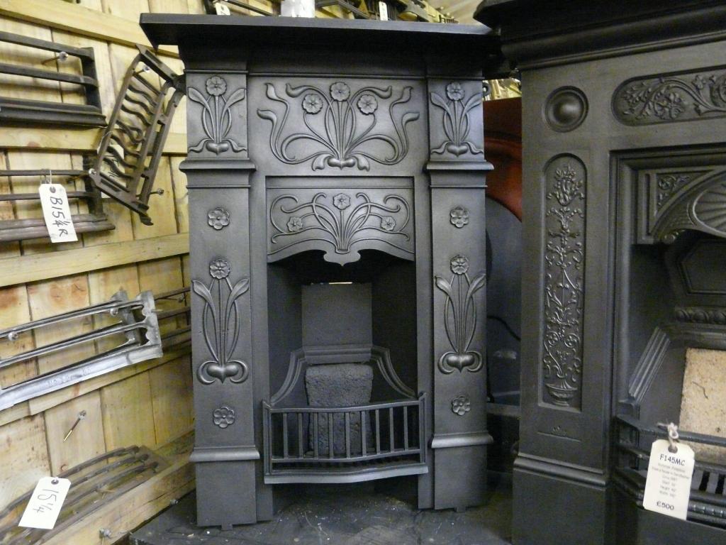 Art Nouveau Bedroom Fireplace 223B - Old Fireplaces