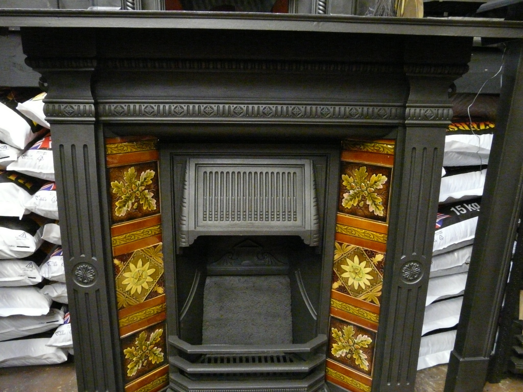 Late Victorian Tiled Combination Fireplace 267tc 942