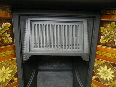 Victorian Tiled Fireplace - 267TC