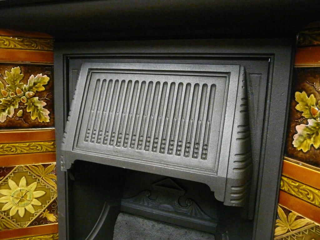 late victorian tiled combination fireplace 267tc 942 old