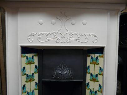 069TC-1225_Original_Art_Nouveau_Tiled_Combination_Fireplace