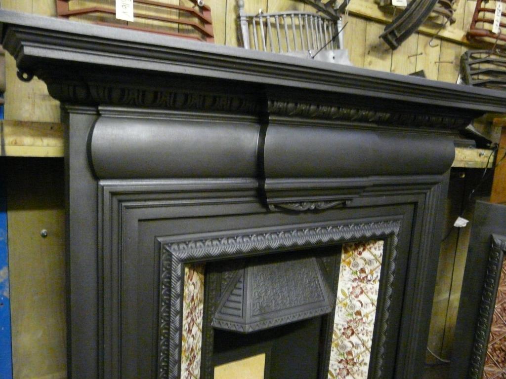 Antique Victorian Cast Iron Fireplace Surround 114cs 1095