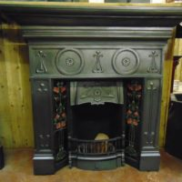 010TC_1002_Edwardian_Art_Nouveau_Tiled_Fireplace