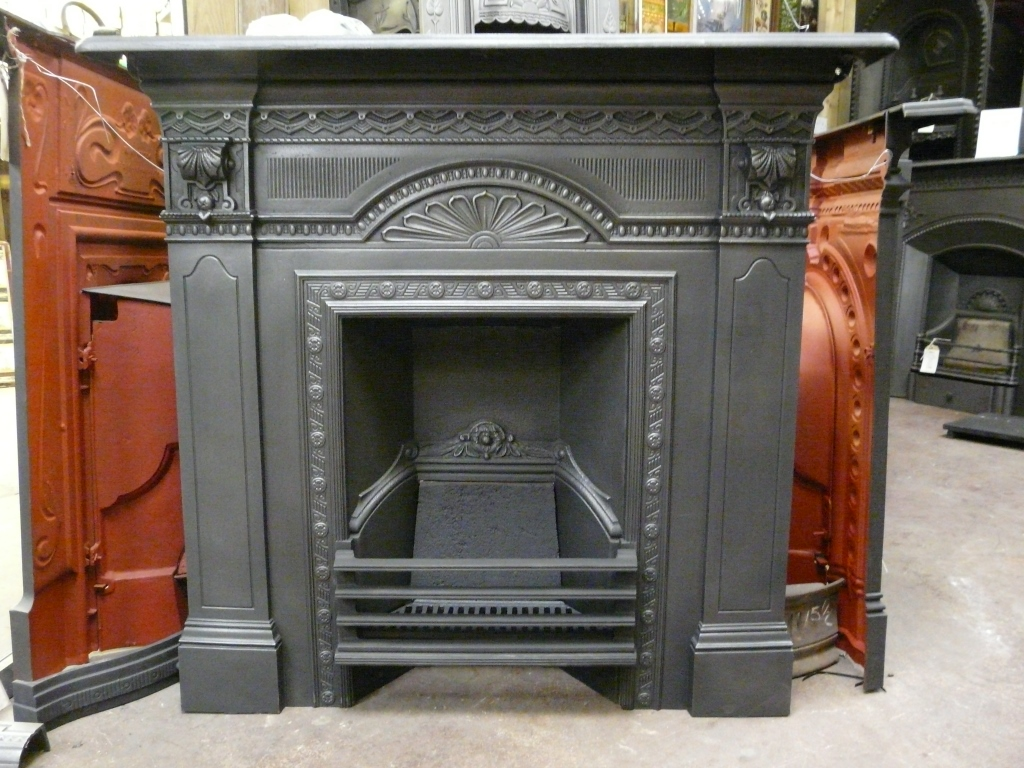 Antique Victorian Fireplace 076lc Old Fireplaces