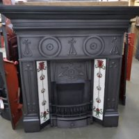 Edwardian Art Nouveau Tiled Fireplace - 1002TC - Oldfireplaces