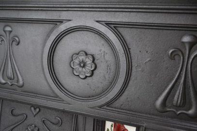 Edwardian Art Nouveau Tiled Fireplace - 1002TC