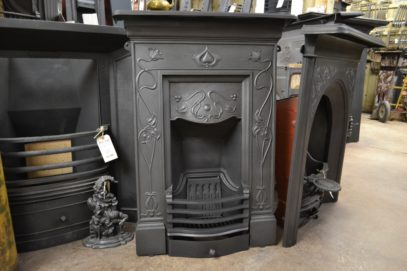 Reclaimed Art Nouveau Bedroom Fireplace 1930B Antique Fireplace Company