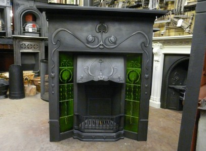 Art_Nouveau_Tiled_Combination_Fireplace_197TC-1163