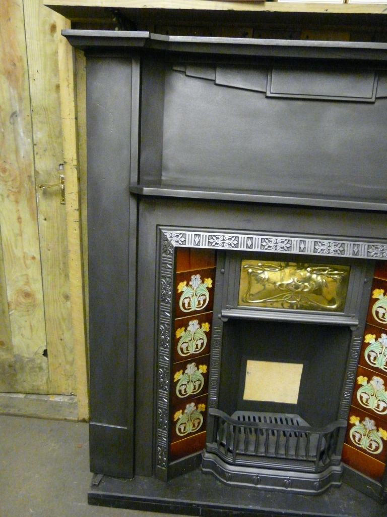 087cs 1060 Art Deco Cast Iron Fireplace Surround