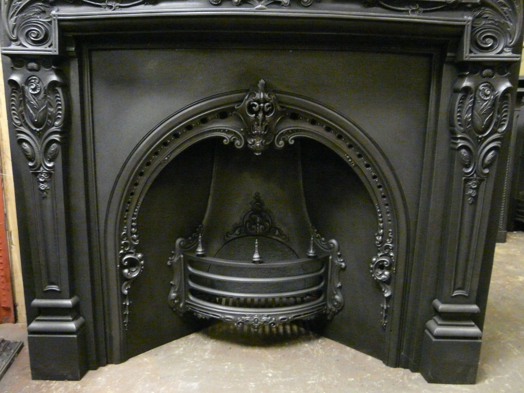 victorian rococo arched fireplace insert 050ai 1059 old fireplaces