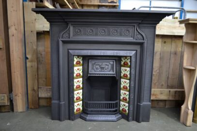 Victorian Surround & Tiled Fireplace Insert - Oldfireplaces