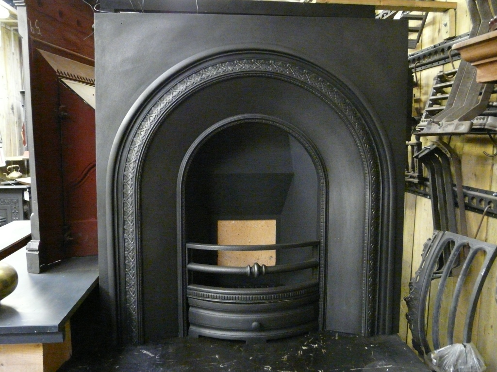 Victorian Arched Fireplace Insert - 246AI-1082 - Old ...