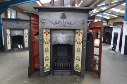 Art Nouveau Tiled Fireplaces - 4225TC