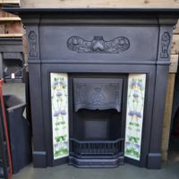 Reclaimed Art Nouveau Tiled Fireplace 1104TC - Oldfireplaces