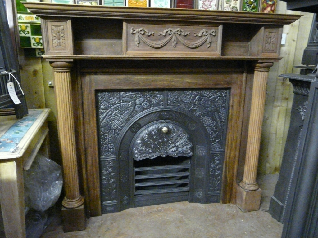 250ws 1132 Antique Victorian Fire Surround Old Fireplaces