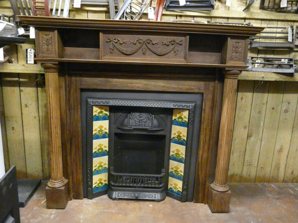 Antique Victorian Fire Surround - 250WS-1132 - Antique Fireplace Co