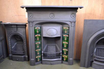 Edwardian Cast Iron Tiled Fireplace - 1139TC - Oldfireplaces
