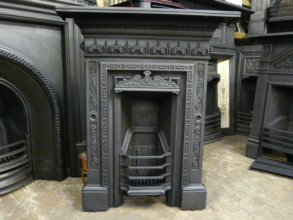 198b 1148 Original Mid Victorian Bedroom Fireplace Old