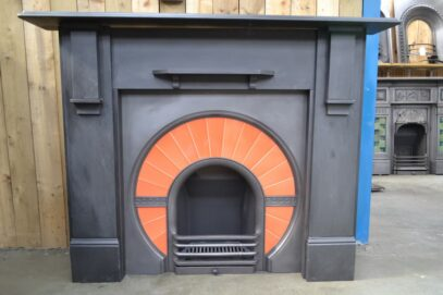 Art Deco Slate Fire Surround 4153SS - Oldfireplaces
