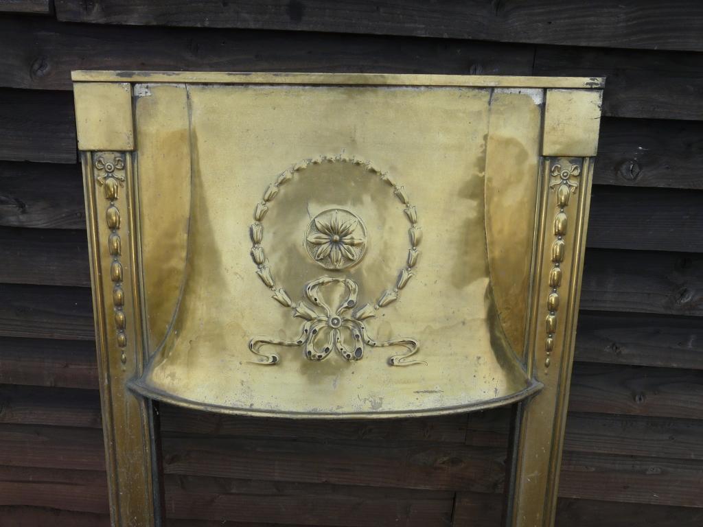 Original Edwardian Brass Insert 1185i Old Fireplaces