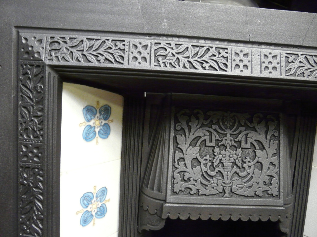 Victorian Tiled Fireplace Insert 089ti 1187 Old Fireplaces