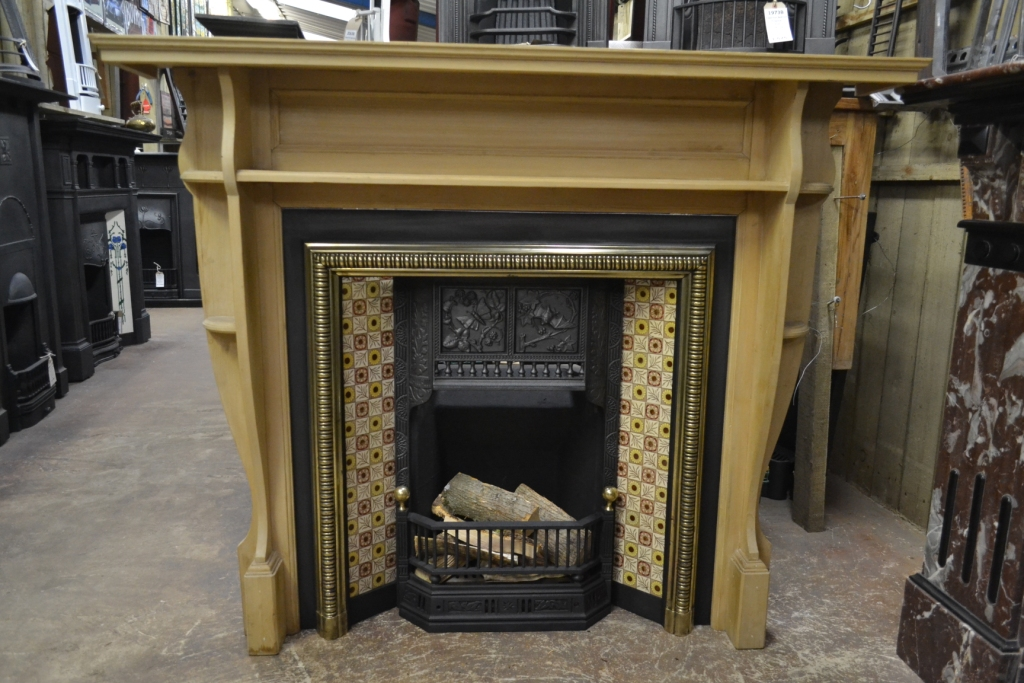 Arts Crafts Pine Fireplace Surround 1077ws Antique Fireplace Co