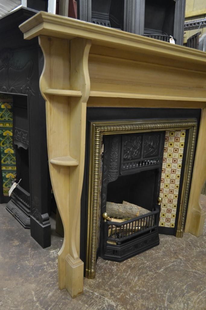 Arts Amp Crafts Pine Fireplace Surround 1077ws Antique